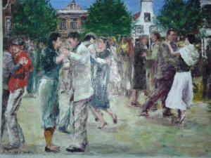 dansen open het plein