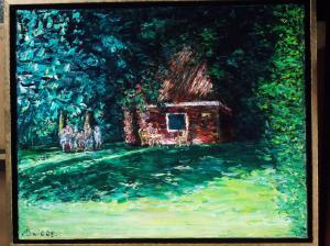 huisje in het bos