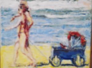 strand wagentje